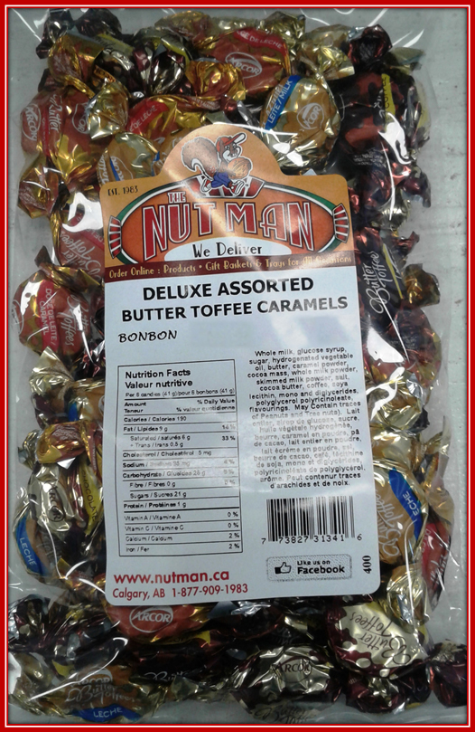 Assorted Butter Toffee Caramels